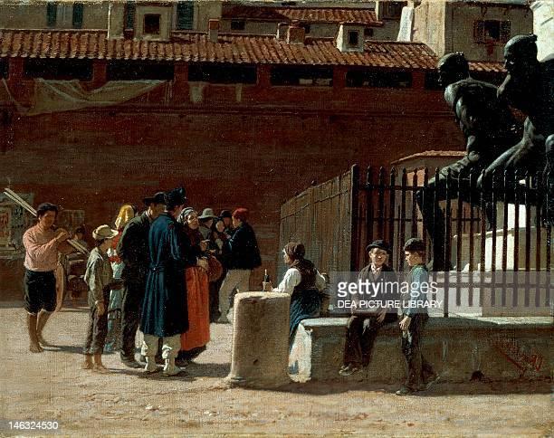 The conscript ca 1875 by Cesare Bartolena oil on canvas 36x46 cm