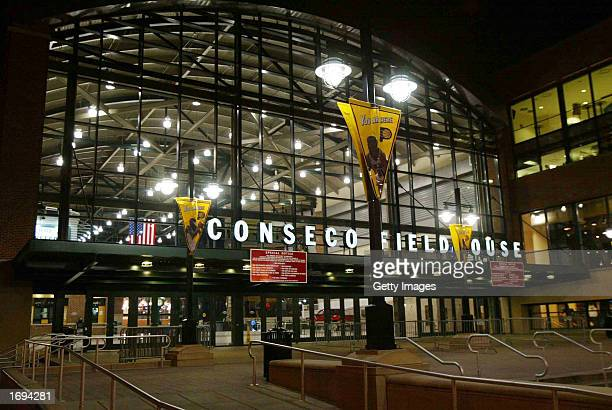 The Conseco Fieldhouse which opened in 1999 as the home of the Indiana Pacers NBA team is shown December 18 2002 in Indianapolis Indiana The...