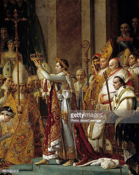 The Consecration of the Emperor Napoleon I Detail of Napoleon holding the crown during his Consecration and Coronation of the Empress Josephine in...