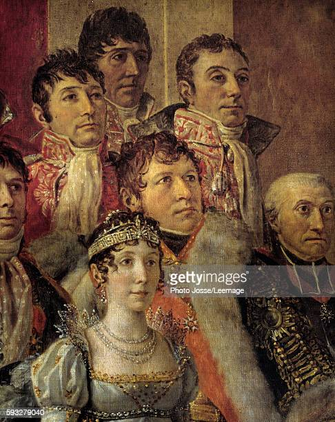 The Consecration of the Emperor Napoleon I Detail representing MarieJulie Clary the General Jean Andoche Junot a Vicar AugusteLaurent Comte called...