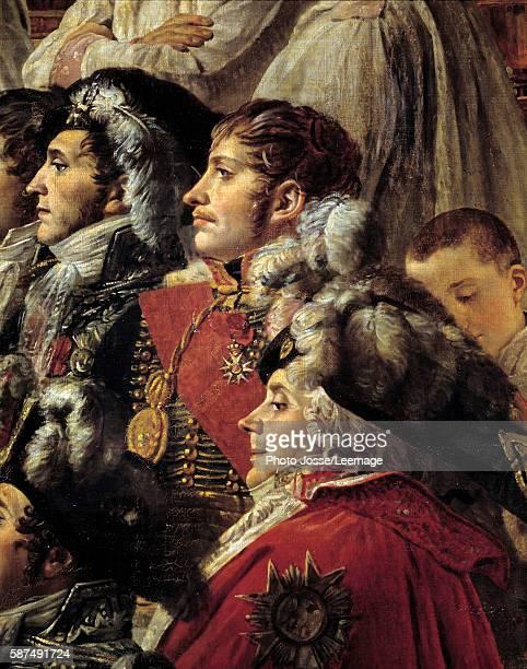 The Consecration of the Emperor Napoleon I Detail representing Auguste JeanGabriel de Caulaincourt Eugene Rose de Beauharnais called Prince Eugene...