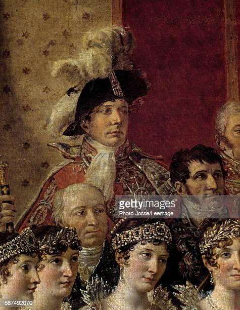 The Consecration of the Emperor Napoleon I Detail representing Pauline Bonaparte Caroline Bonaparte Elisa Bonaparte two chamberlains Gerard...