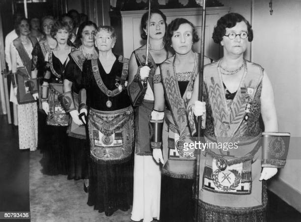 The consecration of the first women's masonic temple takes place at St Ermins Westminster 26th September 1933 Grand Master Elizabeth BoswellReid is...