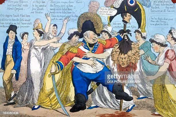 The consequence of invasion or the hero's reward illustration 1803 Napoleonic era United Kingdom 19th century
