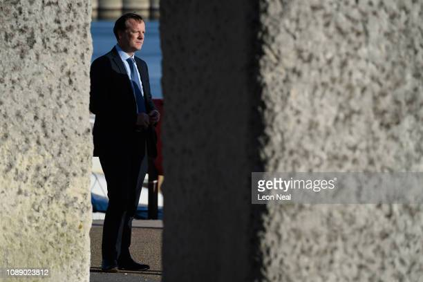 The Conservative MP for Dover Charlie Elphicke is seen as he is interviewed by a television crew on January 02 2019 in Dover England Following a...