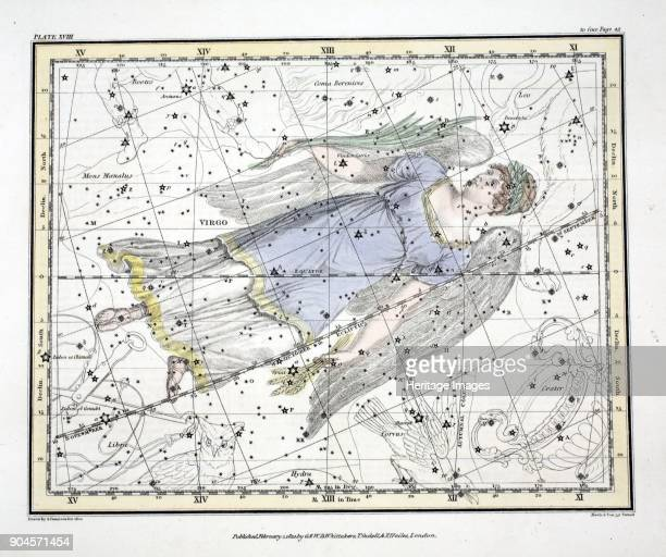 The Constellations Virgo from A Celestial Atlas by Alexander Jamieson pub London 1822 Sixth Sign of the Zodiac