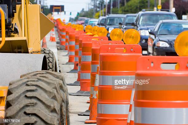the construction led to a lot of traffic - traffic cone stock pictures, royalty-free photos & images
