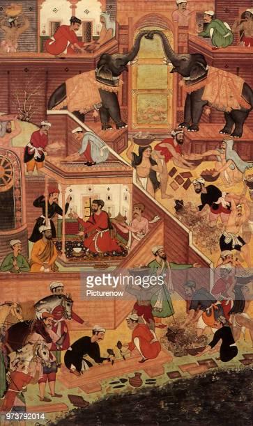 The Construction of Fatehpur-Sikri 1590, Bhavani, 1590 .
