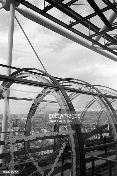 The Construction Of Georges Pompidou National Center For Art And Culture In Beaubourg Paris 28 septembre 1976 La construction du centre national...