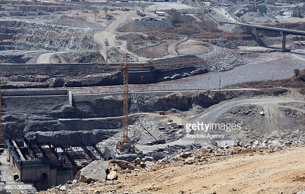 The construction of Grand Renaissance Dam which is reported to be 40% complete continues on Blue Nile River in western BenishangulGumuz region of...