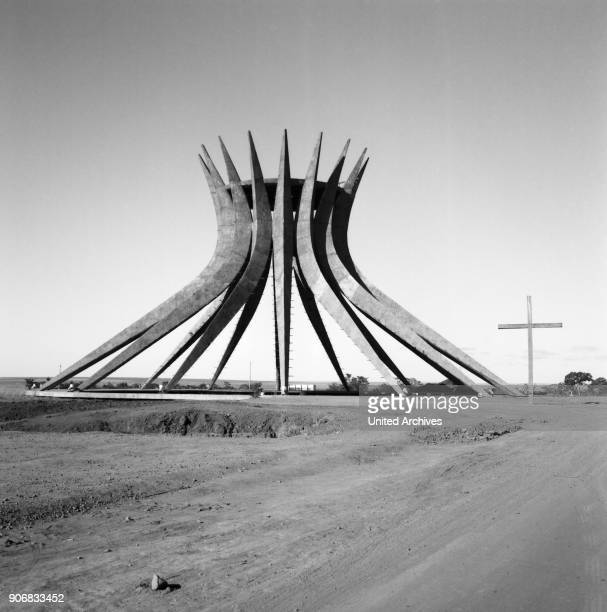 The construction of the Cathedral of Brasilia Brasil 1960s