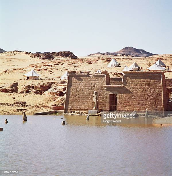 The construction of the High Dam on the Nile River at Aswan drowned many monuments of ancient Nubia The Wadi elSebua Temple was one of the few...