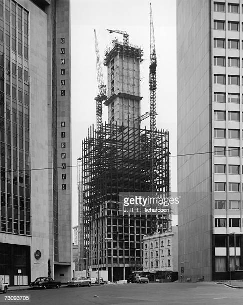 The construction of the new New South Wales Government State Offices in Sydney 3rd April 1964 Thirtyfive storeys high it is flanked on the left by...
