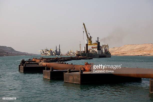 The construction site and the titanic works of the new Suez Canal in Egypt on July 8 2015