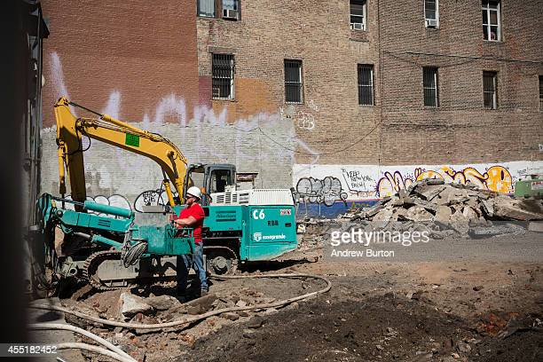 The construction site at 42 Crosby Street which is being developed into a luxury apartment building with 10 subterranean parking spaces priced at $1...