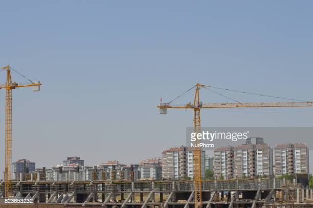 The construction site of a football stadium which will be 22000 people capacity is seen in Ankara Turkey on July 27 2017 Turkey has one of the...