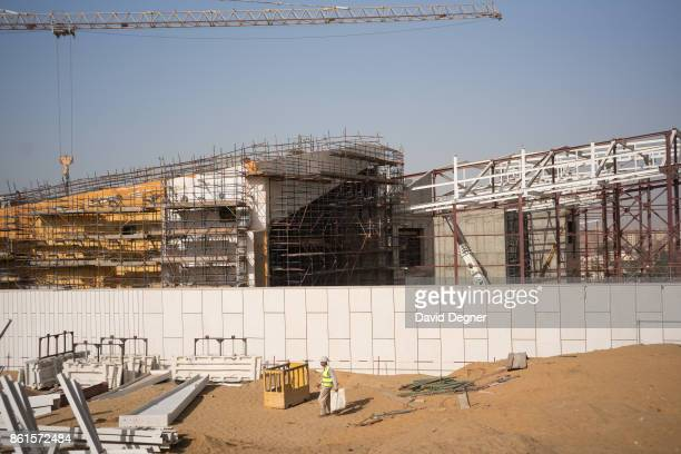 The construction site of the Grand Egyptian Museum stands at the edge of Giza on May 08 2017 in Cairo Egypt The new museum will be another tourist...