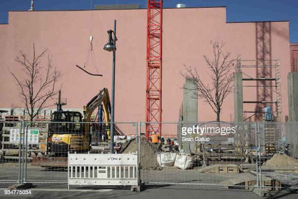 The construction site of the Grandaire apartments complex stands on March 19 2018 in Berlin Germany Berlin is undergoing a construction boom and...