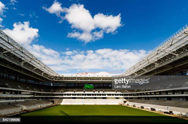 The construction site of the Kaliningrad stadium is seen on August 28 2017 in Kaliningrad Russia