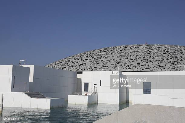 The construction site of the museum Le Louvre Abu Dhabi designed by the architect Jean Nouvel on December 3 2016
