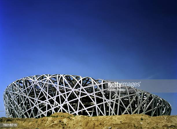 The construction site of the National Stadium is seen on July 13, 2007 in Beijing, China. The National Stadium will host the opening and closing...