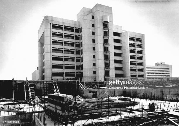 The construction site of the new Alfred P Murrah federal office building at Northwest 4th and Robinson which was deserted when workers walked off the...