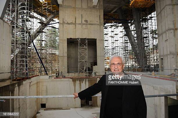 The Construction Site Of The New Museum Of Louis Vuitton Lvmh Foundation At The Jardin D'Acclimatation In Paris. Paris, Tuesday, June 7, 2011: The...