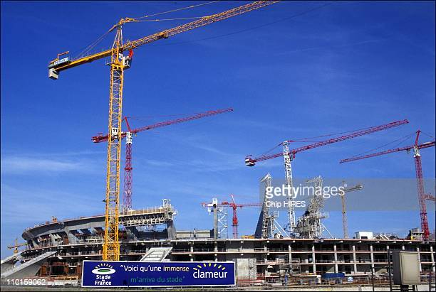 The construction stage of France in Paris france on June 16 1996