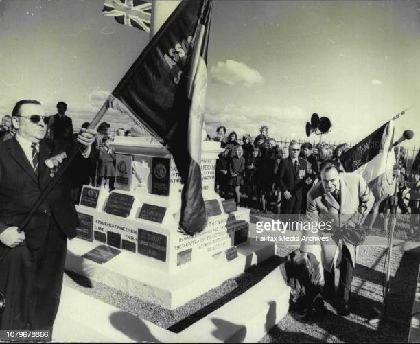 The Consul General for France Mr Jacques Landry in honour of Bastille Day in Sydney today placed a wreath on the monument to the famous French...