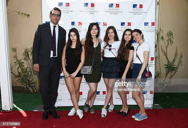 The Consul General of France in Los Angeles Christophe Lemoine and actresses Doga Zeynep Doguslu Tugba Sunguroglu Ilayda Akdogan Gunes Sensoy and...