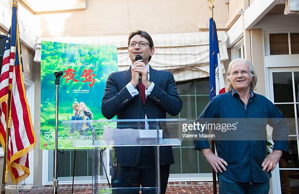 The Consul General Of France Mr Axel Cruau and Director Philippe Muyl attend the The Consul General Of France's Reception For The FrancoChinese...