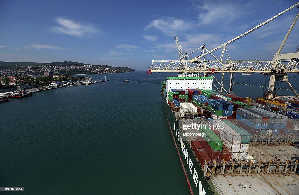 Shipping Operations At Slovenia's Container Port Operated By Luka Koper d.d. : News Photo