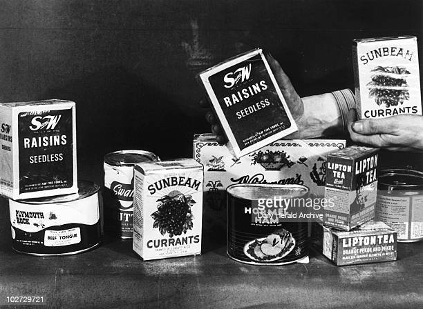 The contents of an American food parcel 1 December 1946 'Foodparcels from Eire will be banned from next January 1 All parcels whether gifts or not...