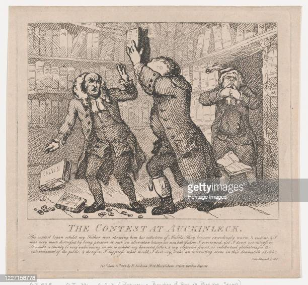 The Contest at Auckinleck June 10 1786 Artist Thomas Rowlandson