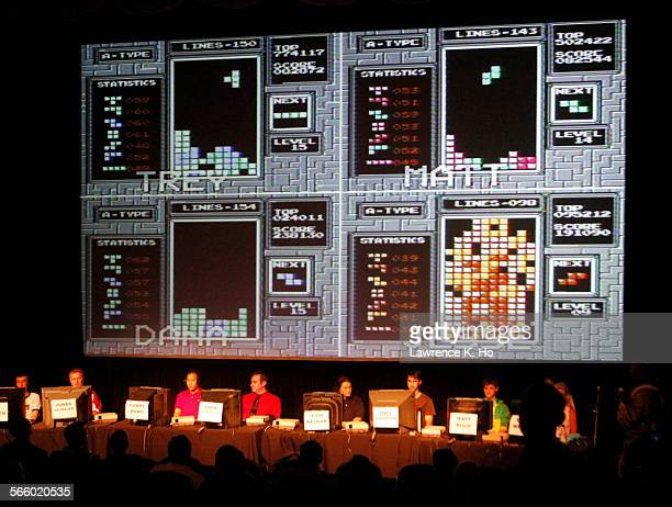 The contestants during the semifinal competition The Classic Tetris World Championship in downtown L A on Aug 08 2010