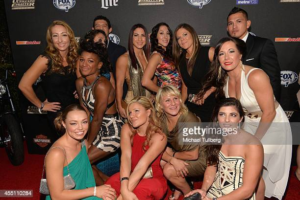 The contestants from 'The Ultimate Fighter' attend FOX Sports 1's 'The Ultimate Fighter' Season Premiere Party at Lure on September 9 2014 in...