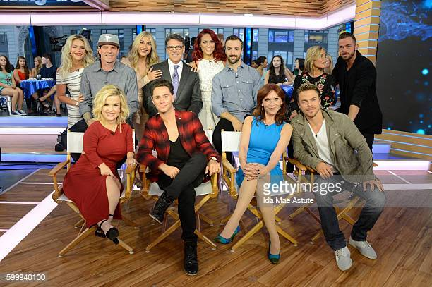 AMERICA The contestants of Dancing with the Stars appear on Good Morning America 9/7/16 airing on the Walt Disney Television via Getty Images...