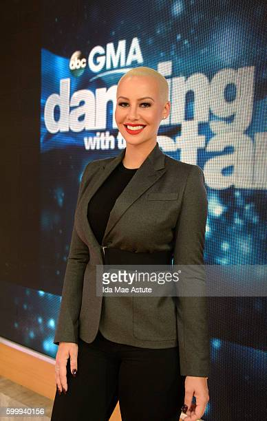 AMERICA The contestants of 'Dancing with the Stars' appear on 'Good Morning America' 9/7/16 airing on the ABC Television Network AMBER