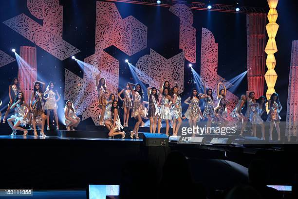 The contestants of the Miss Brazil 2012 pageant on September 29 2012 in Fortaleza northeastern Brazil AFP PHOTO/Jose LEOMAR