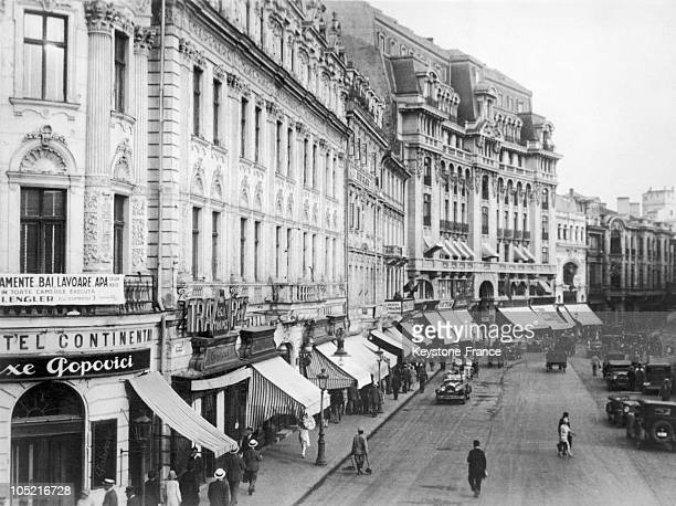 The Continental Hotel On The Lively Boulevard Calea Victoriei In Bucharest Between 1920 And 1930