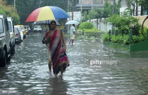The continue rainfall on June 252018 in Kolkata city India