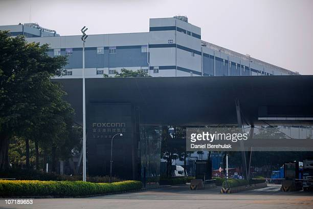 The contract manufacturer Foxconn International Holdings Ltd complex is pictured on November 28 2010 in Shenzhen China According to the US Commercial...