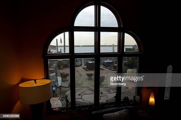 The control tower at John F Kennedy International Airport stands across Jamaica Bay as seed from the view at Deborah Star Reed's home in Averne on...