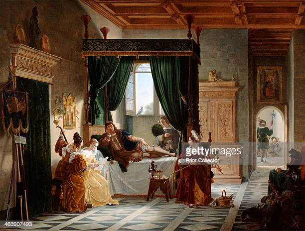 'The Convalescence of Bayard' c17961842 From the Musee du Louvre Paris