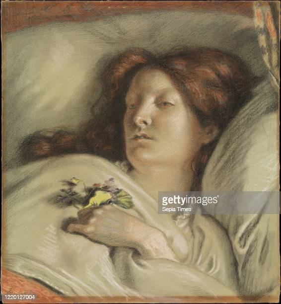 The Convalescent . 1872. Pastel. Sheet: 18 3/8 _ 17 3/8 in. . Drawings. Ford Madox Brown . As BrownÕs mistress in the late 1840s. Emma Hill was a...