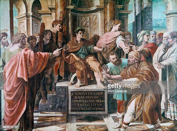 'The Conversion of the Proconsul' 15151516 The Jewish sorcerer Elymas has just been struck blind by Paul because he tried to prevent Peter and Paul...
