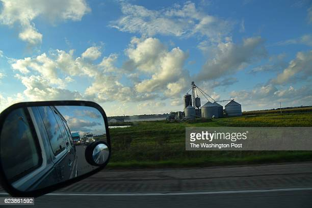 The conversion van passes a farm during the 2016 C2C Express aka a Cannonball run September 17 2016 along I70 somewhere in Indiana Drivers and...