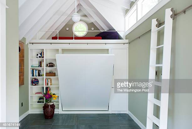The converted garage has a loft and murphy bed to maximize space May 13 2014 in Washington DC