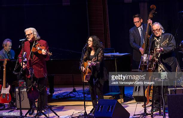 The CooderWhiteSkaggs band performs during a concert in the Carnegie Hall 'Perspectives Rosanne Cash' series at Carnegie Hall's Zankel Hall New York...