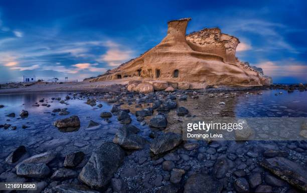 the cookers beach ( los cocedores ) in almeria, spain - ムルシア市 ストックフォトと画像